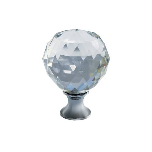 Buton cristal crom 40mm